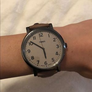 Timex Tan Leather Watch